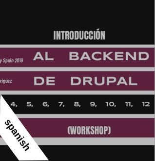 Workshop Drupal Day Spain 2019