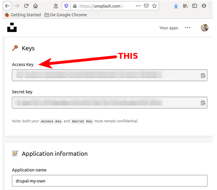 Getting the Unsplash API key